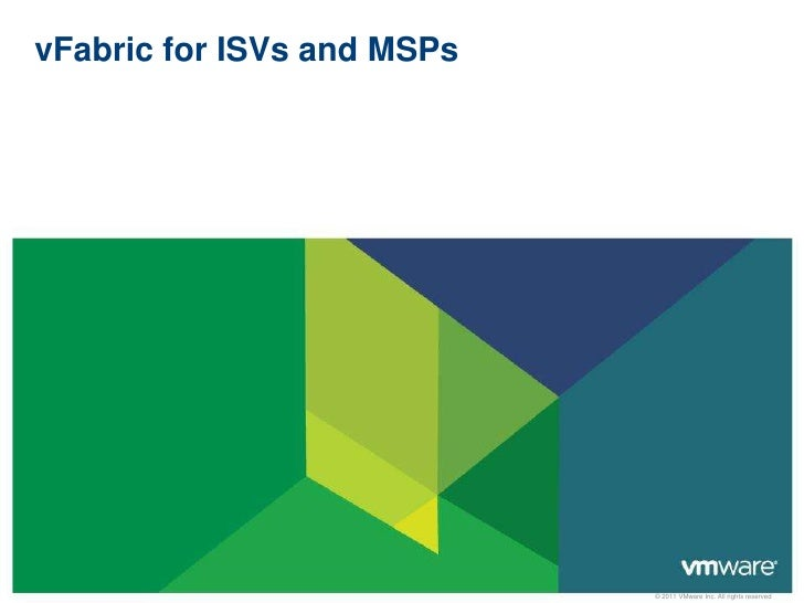 vFabric for ISVs and MSPs<br />