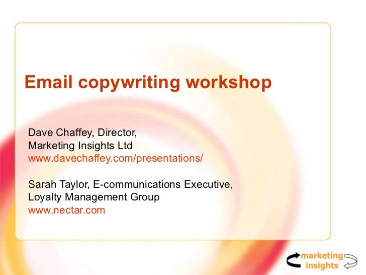 copywriting in power point