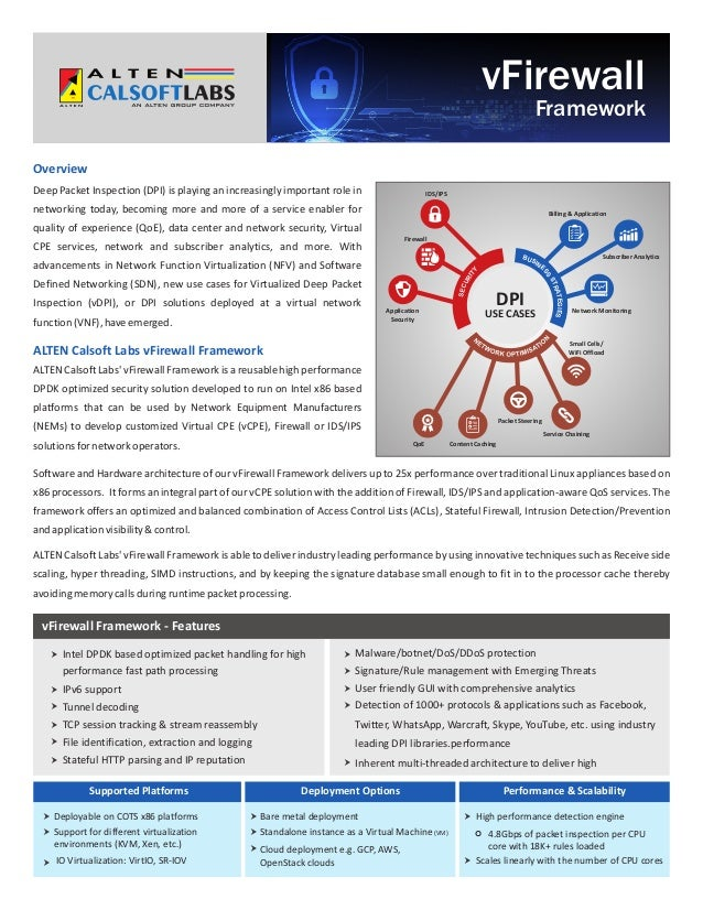 Virtual firewall framework