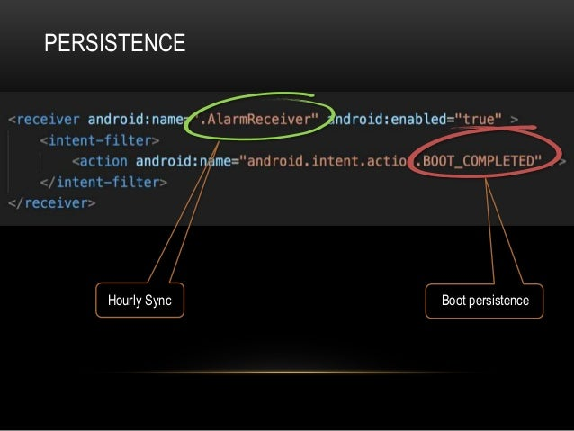 PERSISTENCE Boot persistenceHourly Sync