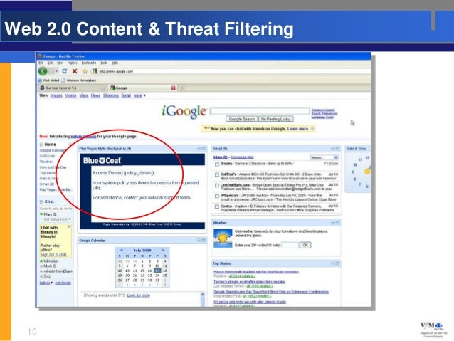 Web 2.0 Content & Threat Filtering  10