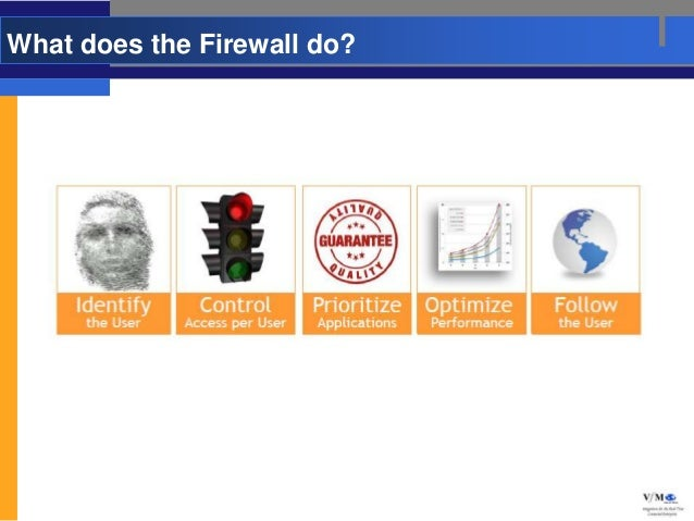 What does the Firewall do?