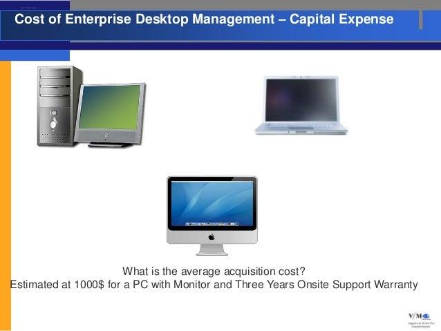 Cost of Enterprise Desktop Management – Capital ExpenseCost of Enterprise Desktop Management – Capital Expense            ...