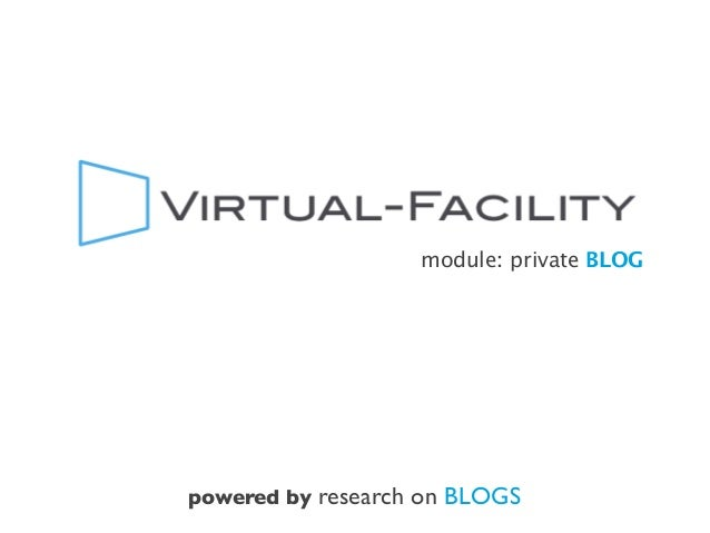 module: private BLOG powered by research on BLOGS