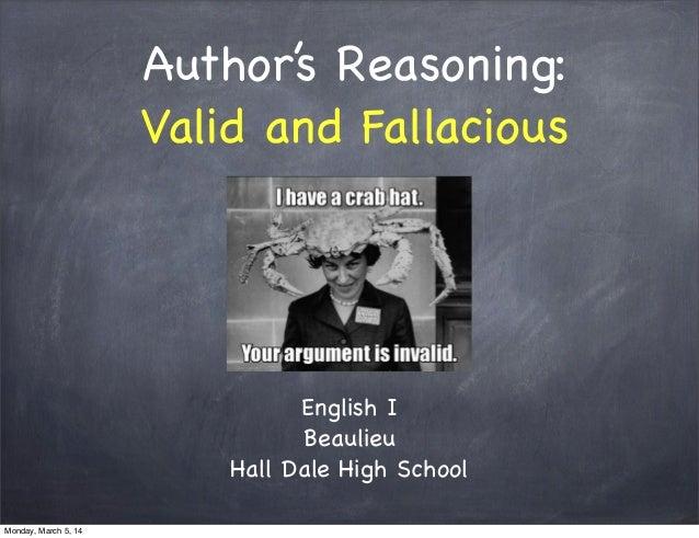 Valid & Fallacious Reasoning