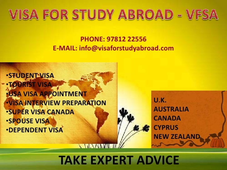 Vfsa services, VFSA - Visa for Study Abroad Deals in