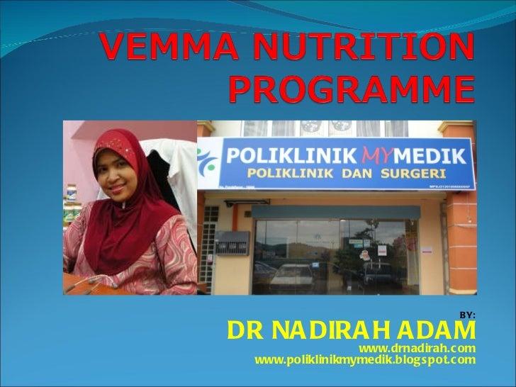 BY: DR NADIRAH ADAM www.drnadirah.com www.poliklinikmymedik.blogspot.com