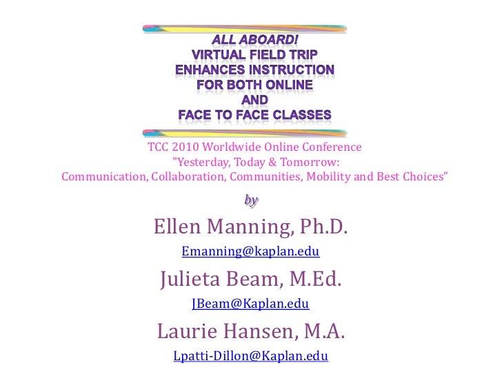 by<br />Ellen Manning, Ph.D.<br />Emanning@kaplan.edu<br />Julieta Beam, M.Ed.<br />JBeam@Kaplan.edu<br />Laurie Hansen, M...