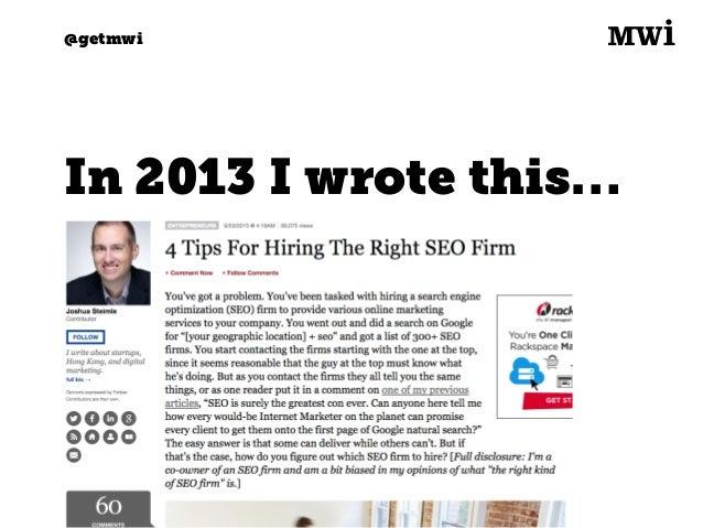 4 Tips For Hiring The Right SEO Firm Slide 2