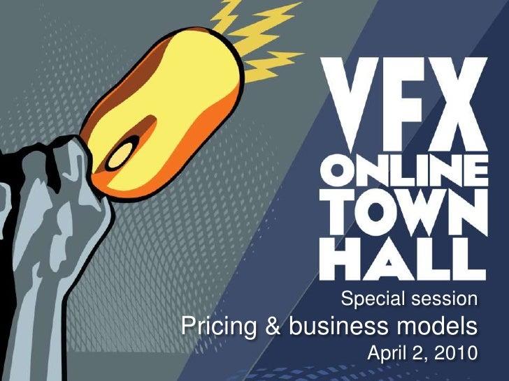 Special session<br />Pricing & business models<br />April 2, 2010<br />