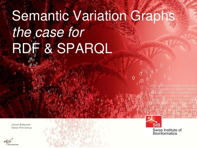 Jerven Bolleman Swiss-Prot Group Semantic Variation Graphs the case for RDF & SPARQL