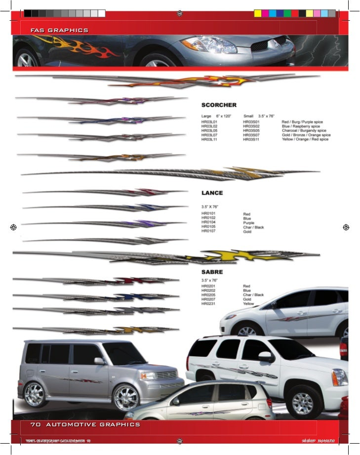 FAS GRAPHICS  70 AUTOMOTIVE GRAPHICSVINYL GRAPHICS 2007 CATALOG.indd70 70   2/16/2007 12:14:20 PM