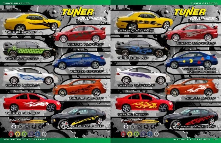 Vinyl Graphics Auto Graphics Catalog Part - Vinyl graphics for a car