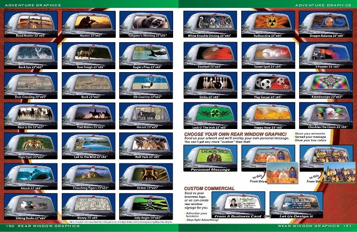 Graphics For Custom Back Window Graphics Wwwgraphicsbuzzcom - Custom rear window decals for cars