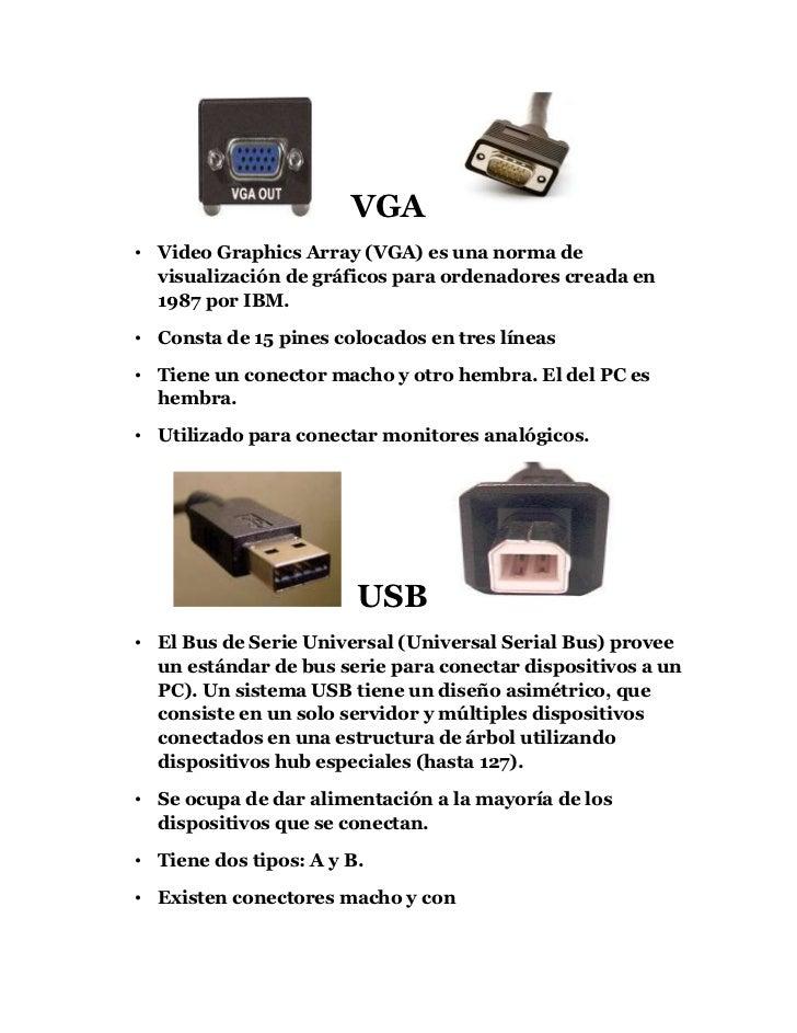 VGA <br />Video Graphics Array (VGA) es una norma de visualización de gráficos para ordenadores creada en 1987 por I...