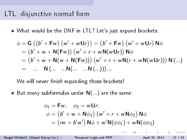 Temporal logic and functional reactive programming