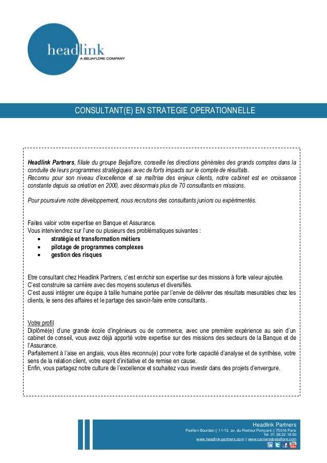 Headlink Partners, filiale du groupe Beijaflore, conseille les directions générales des grands comptes dans la conduite de...