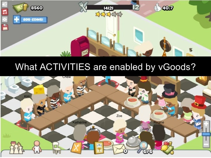 What ACTIVITIES are enabled by vGoods?