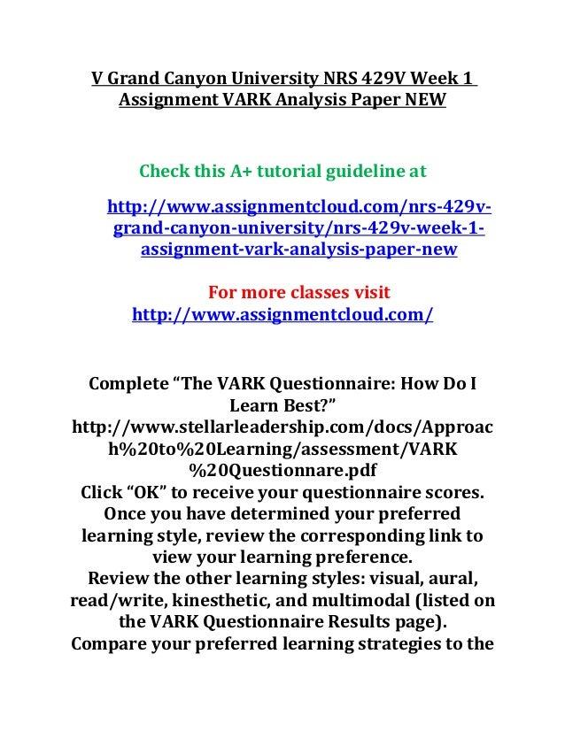 vark assessment
