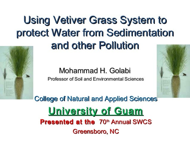 Using Vetiver Grass System toUsing Vetiver Grass System to protect Water from Sedimentationprotect Water from Sedimentatio...