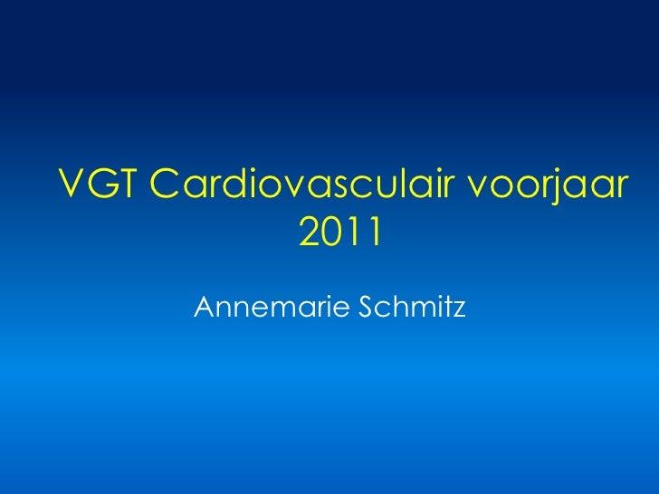 VGT Cardiovasculair voorjaar 2011<br />Annemarie Schmitz<br />
