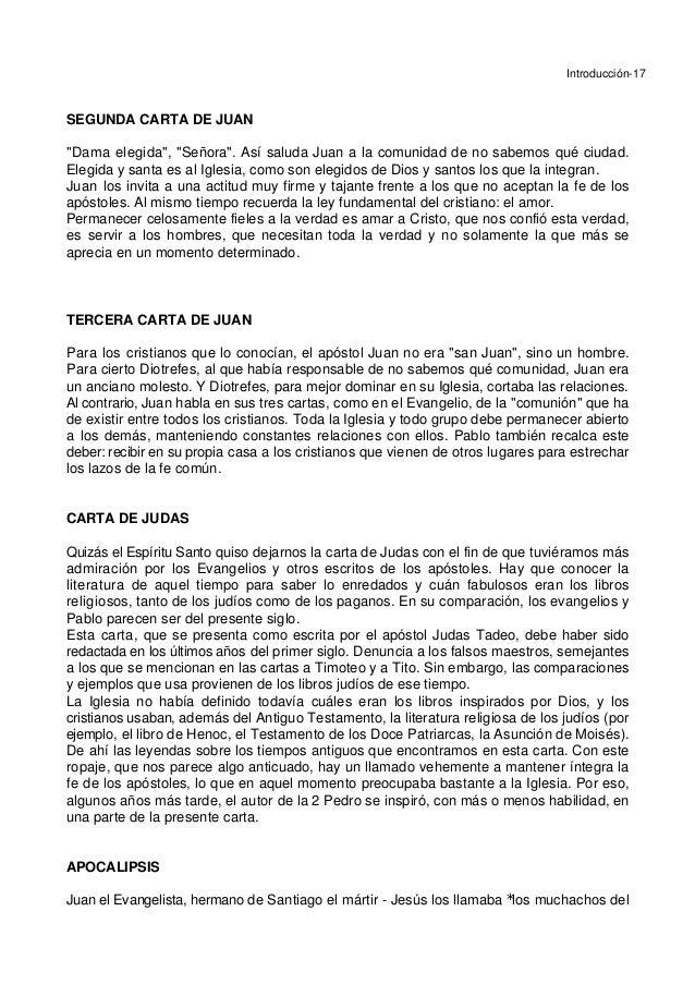 """Introducción-17 SEGUNDA CARTA DE JUAN """"Dama elegida"""", """"Señora"""". Así saluda Juan a la comunidad de no sabemos qué ciudad. E..."""