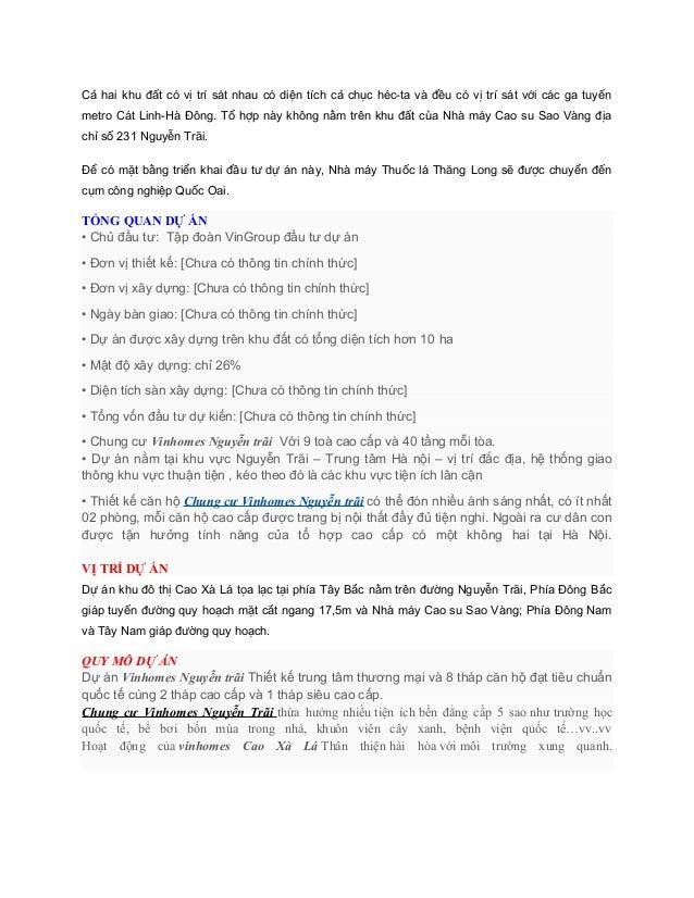 Vinhomes nguyễn trãi  - vinhomes cao xà lá nguyễn trãi Slide 2