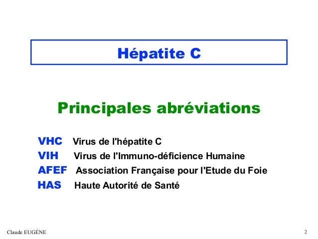 HEPATITE C Après les recommandations américaines publiées en 2020 Slide 2