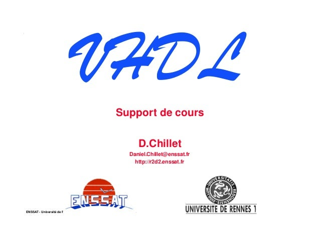VHDL                                                            Support de cours                                          ...