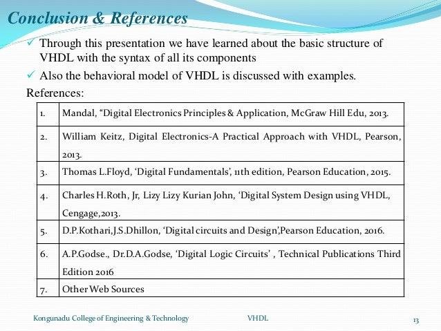 Vhdl Behavioral Programs Structure Of Vhdl