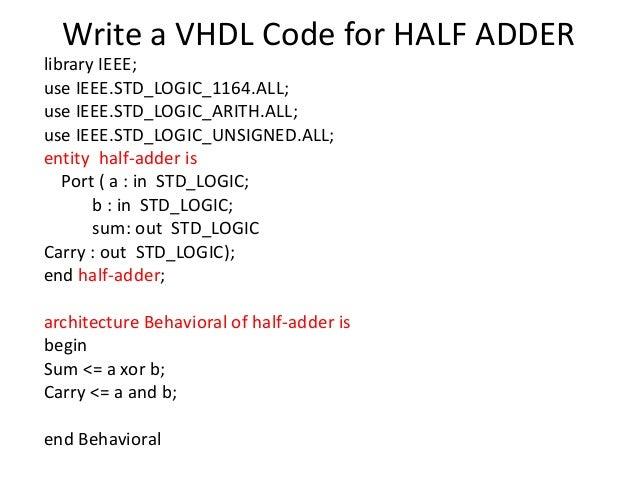 Vhdl programming