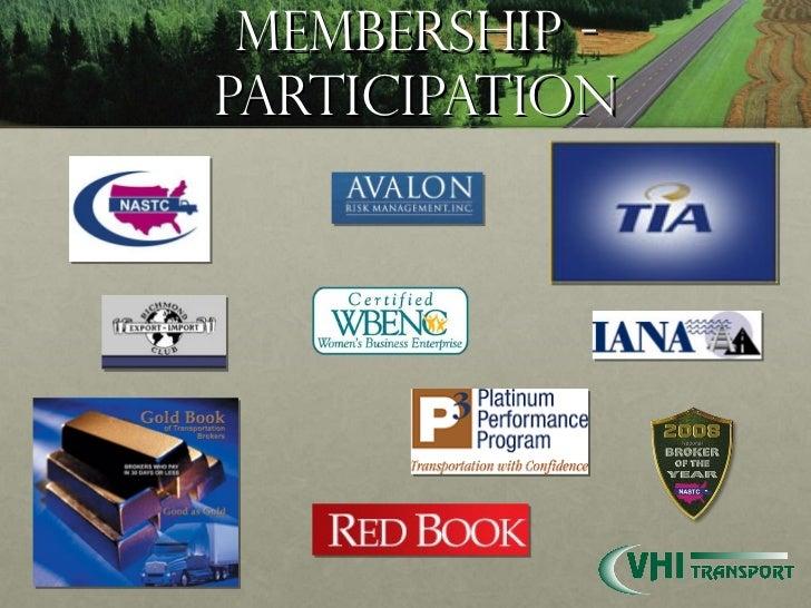 Membership - Participation
