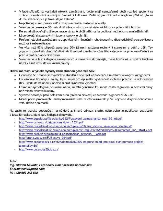 Vyhody proc prijimat zamestnance a manazery 50+ Slide 3