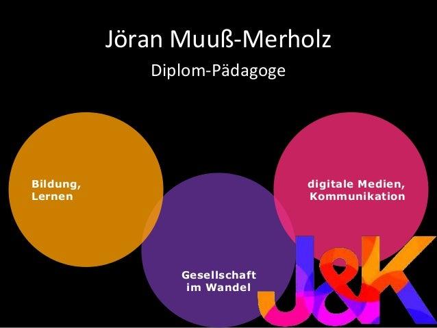 Gesellschaft im Wandel Jöran Muuß-Merholz Diplom-Pädagoge Bildung, Lernen digitale Medien, Kommunikation