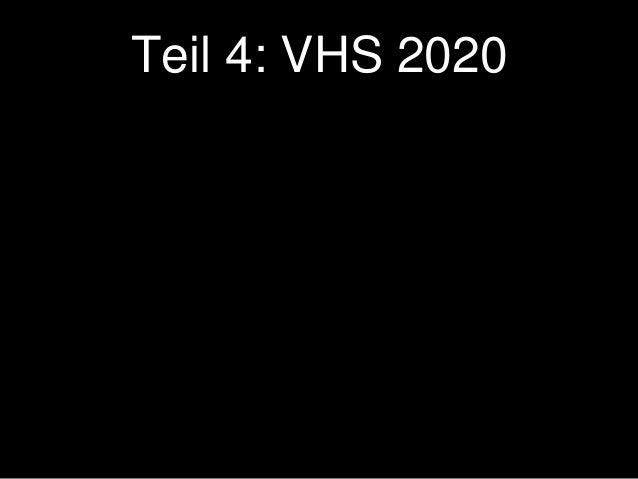 YouTube killed the Volkshochschule – Welche Daseinsberechtigung hat die VHS zwischen YouTube, Wikipedia und MOOCs?