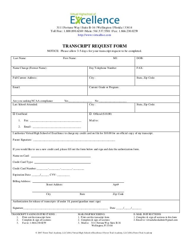 Transcript Request Form Transcript Request Form Manav Bharti