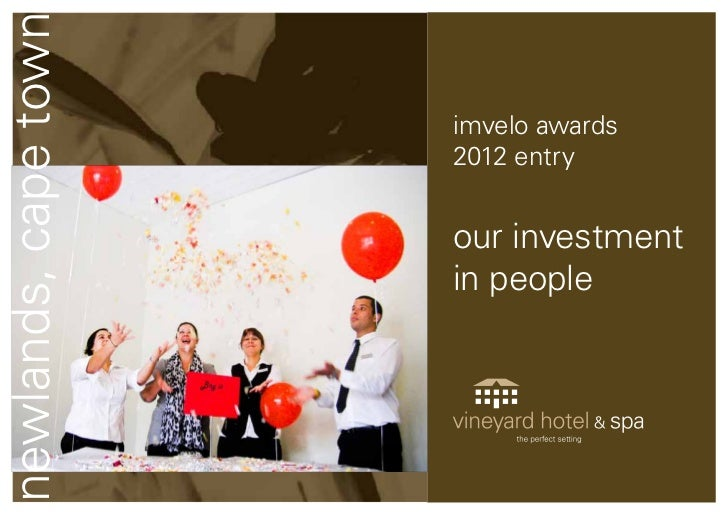 newlands, cape town                      imvelo awards                      2012 entry                      our investment...