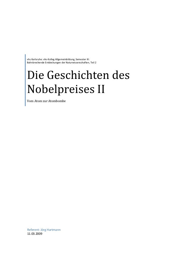vhs Karlsruhe: vhs-Kolleg Allgemeinbildung, Semester III: Bahnbrechende Entdeckungen der Naturwissenschaften, Teil 2     D...