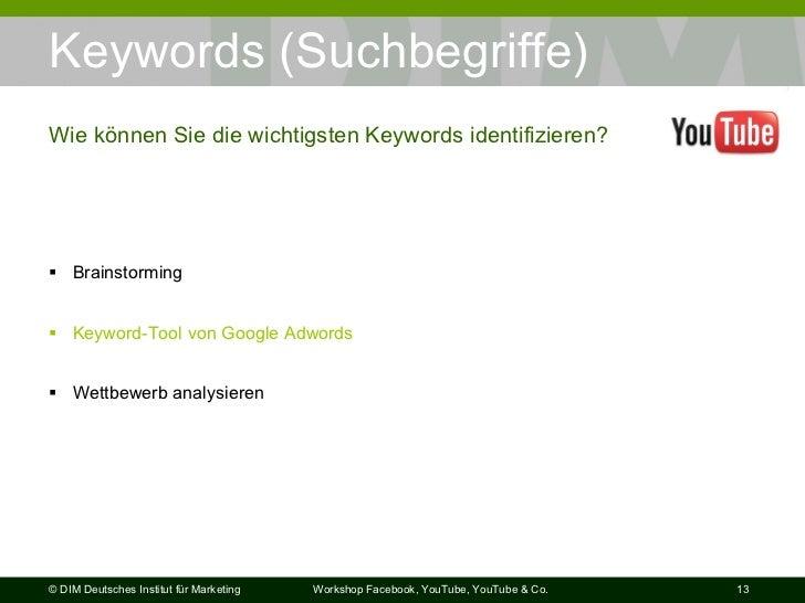 Keywords (Suchbegriffe) <ul><li>Brainstorming </li></ul><ul><li>Keyword-Tool  von Google  Adwords </li></ul><ul><li>Wettbe...