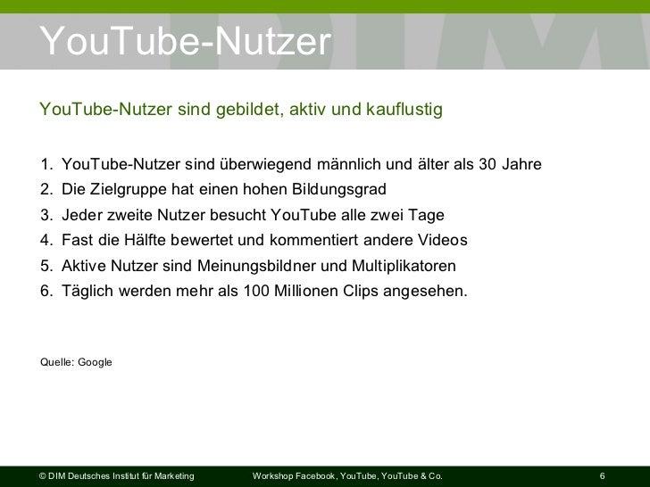 YouTube-Nutzer YouTube-Nutzer sind gebildet, aktiv und kauflustig <ul><li>YouTube-Nutzer sind überwiegend männlich und ält...