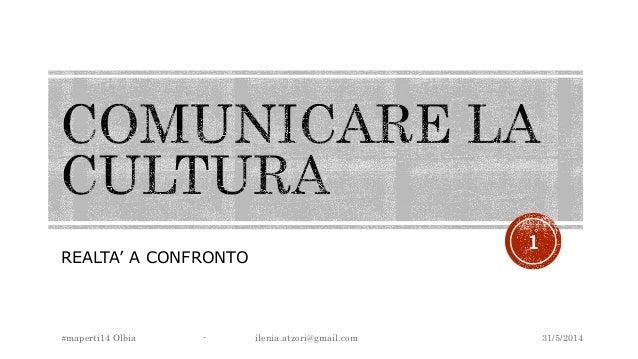 REALTA' A CONFRONTO 31/5/2014#maperti14 Olbia - ilenia.atzori@gmail.com 1