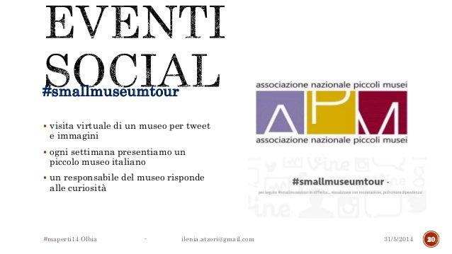 #smallmuseumtour  visita virtuale di un museo per tweet e immagini  ogni settimana presentiamo un piccolo museo italiano...