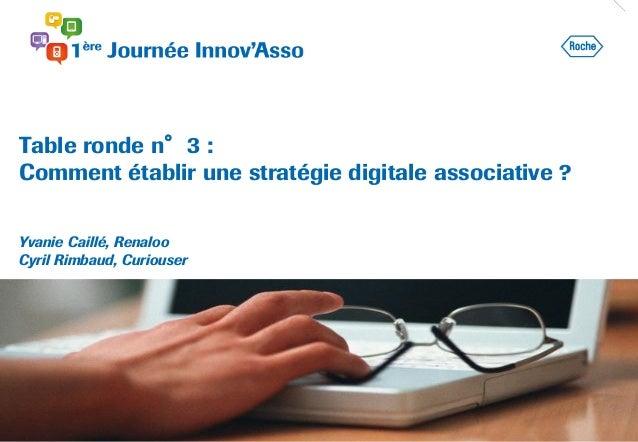 Table ronde n°3 : Comment établir une stratégie digitale associative ? Yvanie Caillé, Renaloo Cyril Rimbaud, Curiouser