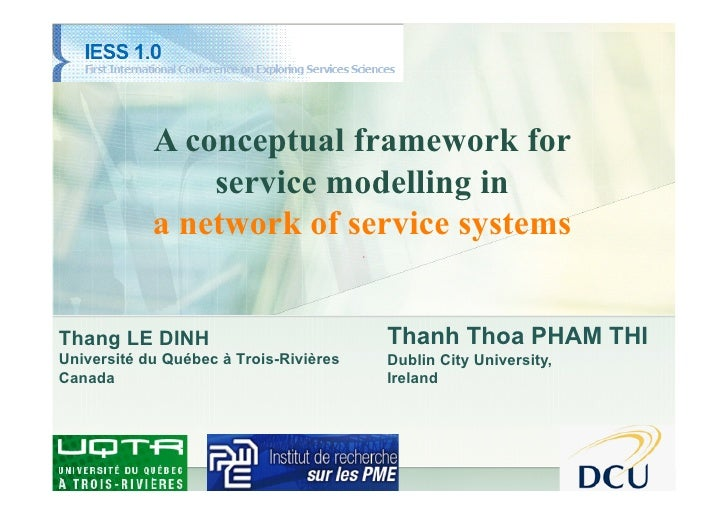 IESS 2010                 A conceptual framework for                 service modelling in             a network of service...