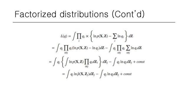 Factorized distributions (Cont'd)