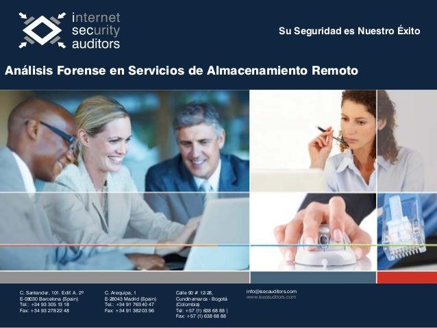 Su Seguridad es Nuestro Éxito C. Santander, 101. Edif. A. 2º E-08030 Barcelona (Spain) Tel.: +34 93 305 13 18 Fax: +34 93 ...