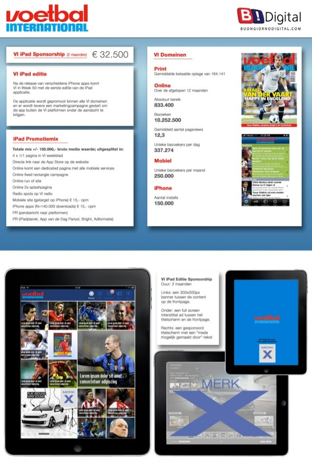uoefbal  @Digital  SUONGIORNODIGITALCOM  VI iPad Sponsorship (? rnaanden) g 32500 *  VI iPad editie  NJ G0 ľO| CO50 van 'J...