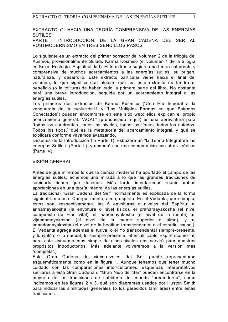 EXTRACTO G: TEORÍA COMPRENSIVA DE LAS ENERGÍAS SUTILES                           1  EXTRACTO G: HACIA UNA TEORÍA COMPRENSI...