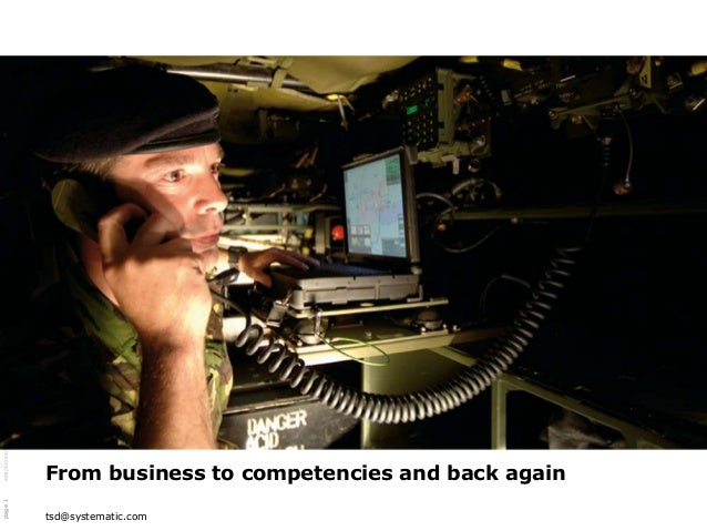 SSE/XXXXX/YYY/ZZZZ $Revision: xx.xx $                                         From business to competencies and back again...