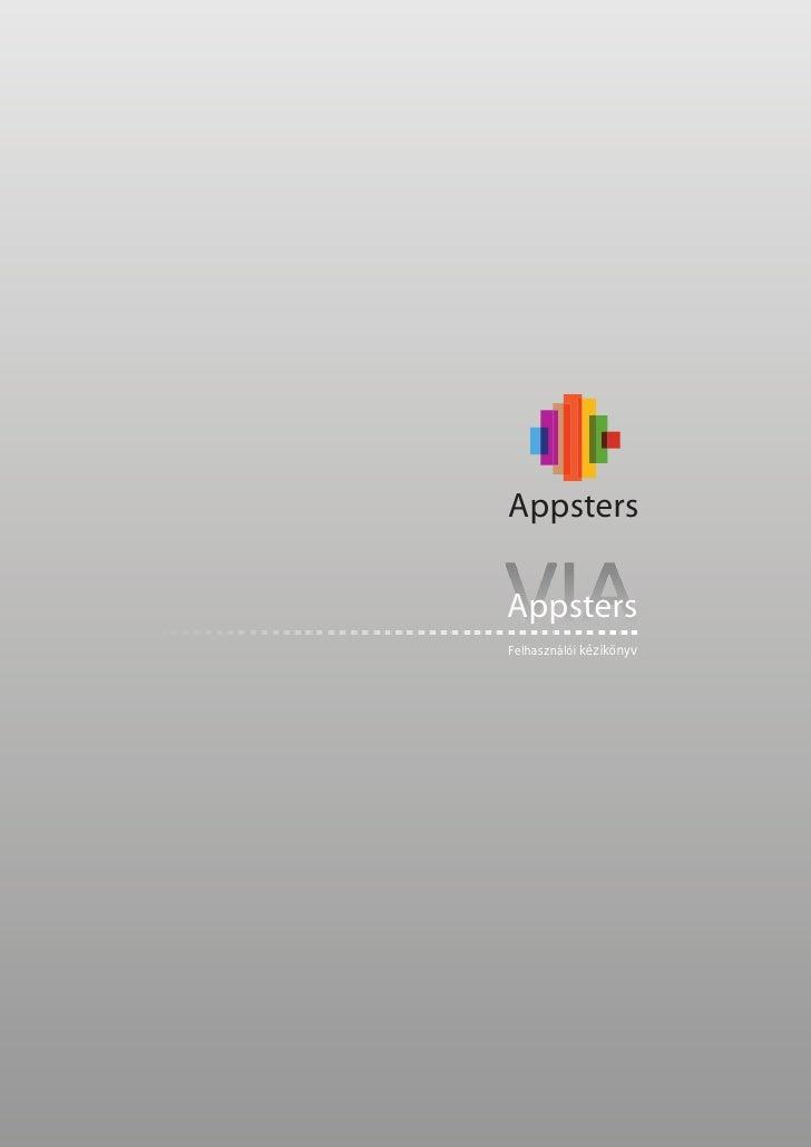 AppstersAppstersFelhasználói kézikönyv
